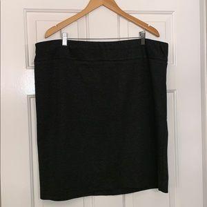 Ashley Stewart Ponte Knit Skirt - Charcoal - 22